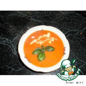 Рецепт Томатный суп-пюре с синим сыром