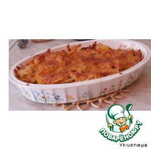 Рецепт Запеканка из квашеной капусты с курицей