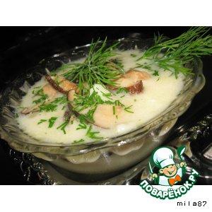 Рецепт Сырный суп с грибами шиитаке