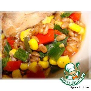 Рецепт Пшеничная каша с овощами