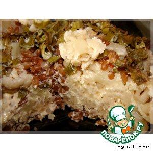 Рецепт Запеканка из цветной капусты с полбой