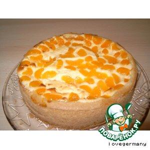Рецепт Сырный пирог с мандаринами
