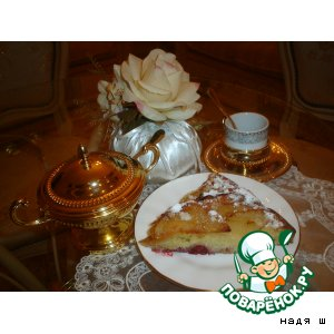Рецепт Вишнево-грушевый пирог