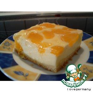 Рецепт Сырный пирог с мандаринами 2