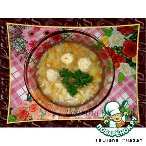 Рецепт Супчик с рыбными фрикадельками