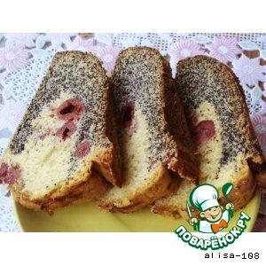Рецепт Вишневый кекс с маком