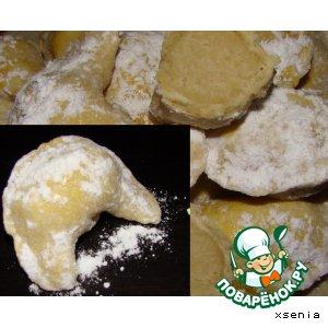 Рецепт Рожки газели (Ка\'аб аль жазаль, Алжирское печенье)