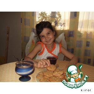 Рецепт Печенье из кукурузных хлопьев ( для феечек школы ВИНКС)