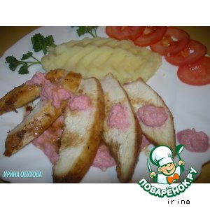 Рецепт Куриное филе с соусом из хрена