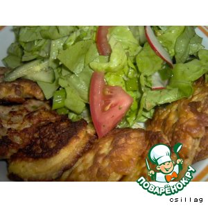 Рецепт Биточки с фаршем, котлетки и салат