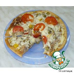 Рецепт Пицца с фаршем, баклажанами и сулугуни