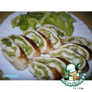 Рецепт Куриный рулет с капустой