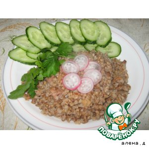 Рецепт Гречневая каша с мясными шкварками