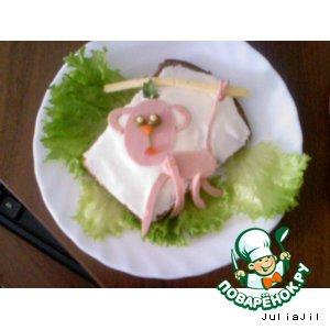 Рецепт Бутерброды для деток №2