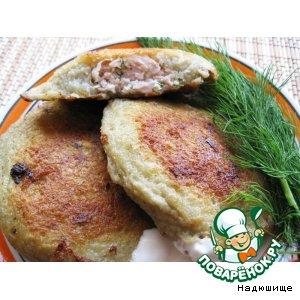 Рецепт Драники с мясной начинкой