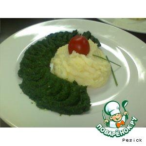 Рецепт Картофельное пюре со  шпинатом