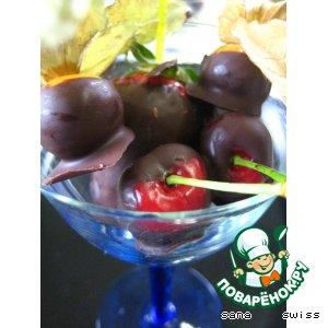 """Рецепт Свежие   фрукты   в   шоколадном   """"фондю"""""""