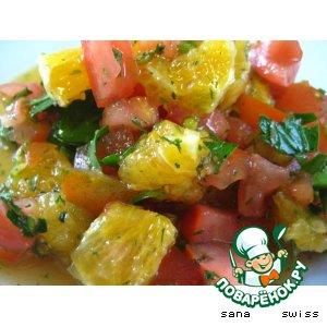 Рецепт Апельсиново - томатный салат