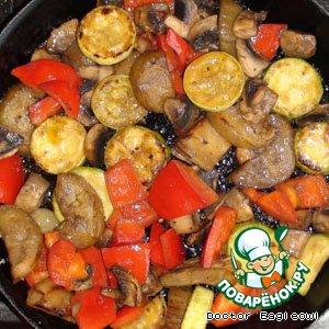 Рецепт Жареные овощи с грибами
