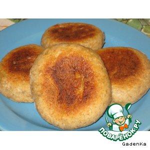 Рецепт Лепешки с чесночно-сырной начинкой