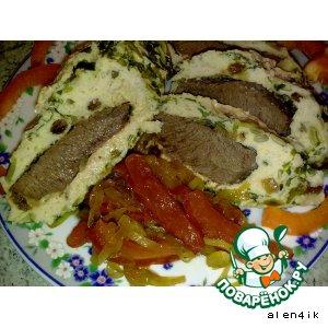 Рецепт Телятина в муссе из цыпленка с пикантным соусом