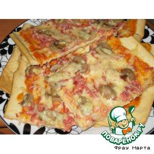 Рецепт: Тесто для пиццы и сама пицца