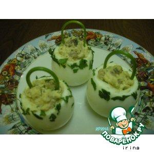 """Рецепт Фаршированные яйца """"Корзиночки"""""""