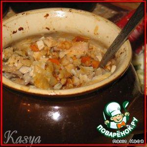Рецепт Гречка с курой и овощами