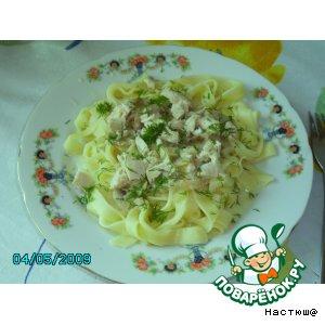 Рецепт Паста с курицей и грибами