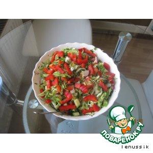 Салат весенний овощной домашний рецепт с фотографиями как приготовить