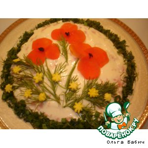 """Рецепт Салат """"Полевые цветы"""""""