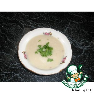 Рецепт Суп-пюре из цветной капусты с фасолью