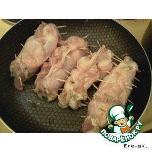 Рецепт Куриные рулетики с сыром и грибами