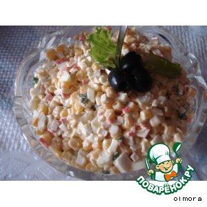 Рецепт Салат «Кукурузная поляна»