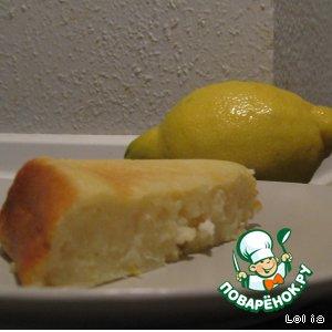 Рецепт Лимонно-творожная запеканка