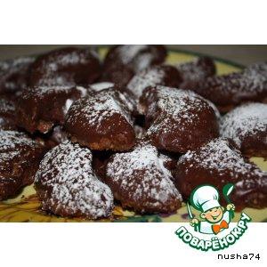 Рецепт Орехово-шоколадные  рогалики