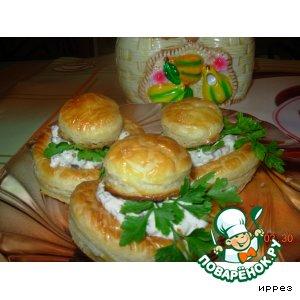 Рецепт Волованы с грибной начинкой