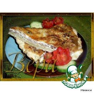 Рецепт Пирог из рыбных консервов с яично-сметаной заливкой