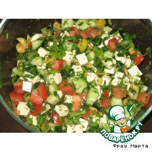 Рецепт Овощной салат с брынзой