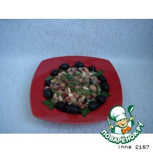 Рецепт Салат пикантный из фасоли с брынзой
