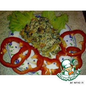 Рецепт Мидии в сливочном соусе и курица в сливочном соусе на картофеле пай