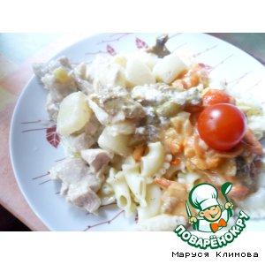 Рецепт Курочка с ананасами
