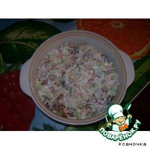 Готовим вкусный рецепт с фото Салат из пекинской капусты