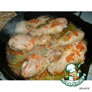 Рецепт Куриные голени припущенные с овощами