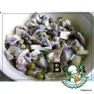 Салат грибной простой пошаговый рецепт с фотографиями