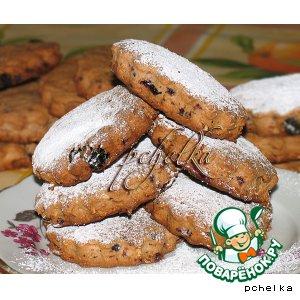 Рецепт Творожно-овсяное печенье с изюмом