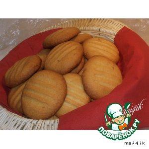 """Рецепт Сладкое печенье """"Любимое"""" с кедровыми орешками"""