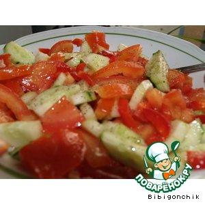 """Рецепт Овощной салат """" Остренький"""""""