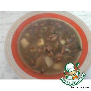 Рецепт Суп чечевичный с грибами