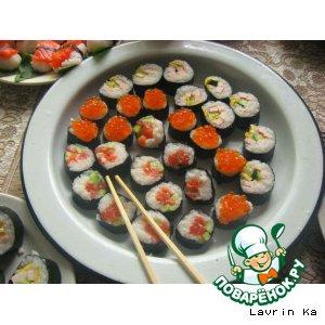 Мои первые суши вкусный рецепт с фото